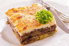 Moussaka with Minced Meat Royalty Free Stock Image