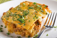 Moussaka with minced meat Royalty Free Stock Photography