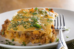 Moussaka with minced meat Stock Photo