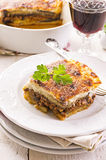 Moussaka on a plate Royalty Free Stock Photo