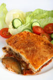 Moussaka plate vertical Stock Photo