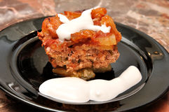Moussaka-potatoes dish Royalty Free Stock Images