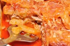 Moussaka-potatoes dish Stock Photos