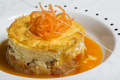Moussaka rond Image stock