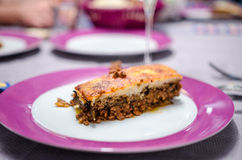 Moussaka slice Royalty Free Stock Photos