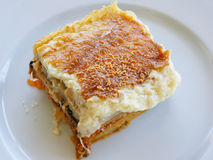 Moussaka. The traditional Greece food Stock Image