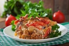 Moussaka. A traditional Greek dish royalty free stock photos
