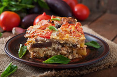 Moussaka. A traditional Greek dish royalty free stock image