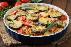 Moussaka  - a traditional Greek dish Stock Photography