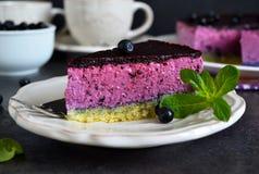 Mousse βακκινίων κέικ Στοκ εικόνα με δικαίωμα ελεύθερης χρήσης