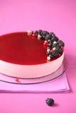 Mousse μαύρων σταφίδων κέικ στοκ φωτογραφίες με δικαίωμα ελεύθερης χρήσης