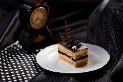 mousse σοκολάτας αμυγδάλων στοκ φωτογραφίες
