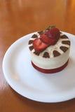 mousse σοκολάτας κέικ λευκό Στοκ Εικόνα
