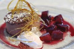 mousse σοκολάτας κέικ Στοκ Φωτογραφίες