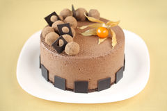 Mousse σοκολάτας κέικ στοκ εικόνα με δικαίωμα ελεύθερης χρήσης