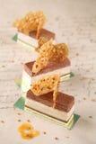 Mousse σοκολάτας φυστικοβουτύρου φραγμοί Στοκ Εικόνες