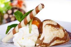 Mousse au chocolat Stock Images