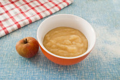 Mousse of boscop apples Royalty Free Stock Photos