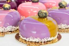 Mousse cake close up Stock Image