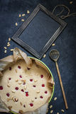 Mousse cake. Copyspace. Mousse cake made of dried fruits and dried cherries Stock Photo