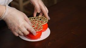Mousse cake. Festive baking stock photo