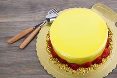Mousse cake Stock Photos