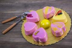 Mousse cake Stock Photo