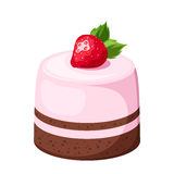 Mousse cake. Vector illustration. Stock Photography
