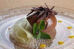 mousse chocolat au Стоковая Фотография RF