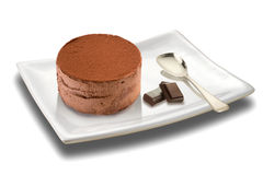 Mousse with chocolate royalty free stock photo