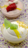 Mousse cold whipping cream Stock Image