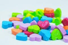 Mousse colorée de coeurs Images libres de droits