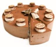 Mousse crème de chocolat Images stock