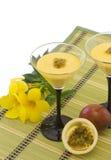 Mousse da fruta de paixão Foto de Stock Royalty Free