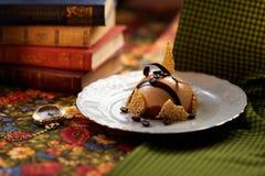 Mousse de caramel Photo stock