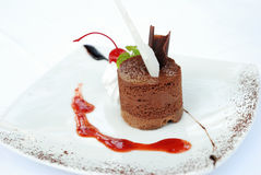 Mousse de chocolat Photographie stock libre de droits