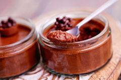 Mousse de chocolat Photo stock