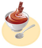 Mousse de chocolate Foto de Stock Royalty Free
