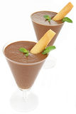 Mousse de chocolate Imagem de Stock Royalty Free