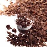 Mousse de chocolate Fotografia de Stock