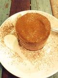 Mousse de chocolate Foto de archivo