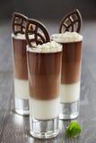 Mousse de chocolate Imágenes de archivo libres de regalías