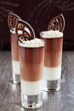Mousse de chocolate Fotos de archivo libres de regalías