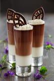 Mousse de chocolate Imagenes de archivo
