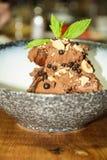 Mousse de chocolate Fotos de archivo