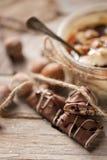 Mousse de chocolate Fotografía de archivo