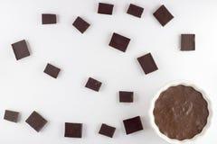 Mousse de chocolate Imagen de archivo libre de regalías