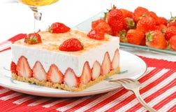 Mousse de fraise Photographie stock libre de droits