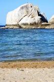 mousse de mousse de roches d'île de littoral de tao grande Image libre de droits