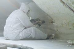 Mousse de polyuréthane de jet pour le toit image libre de droits